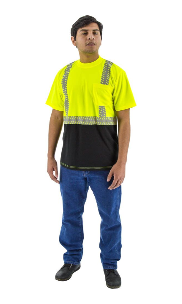 Majestic 75-5215 Safety Short Sleeve Shirt Hi-Vis