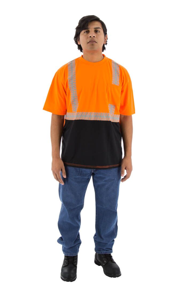 Majestic 75-5216 Safety Short Sleeve Shirt Hi-Vis