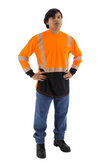 Majestic 75-5258 Hi-Vis Orange Long Sleeve Reflective Chainsaw Striping ANSI 2 R