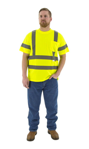 Majestic 75-5305 Hi-Vis Yellow Short Sleeve Shirt ANSI 3, R