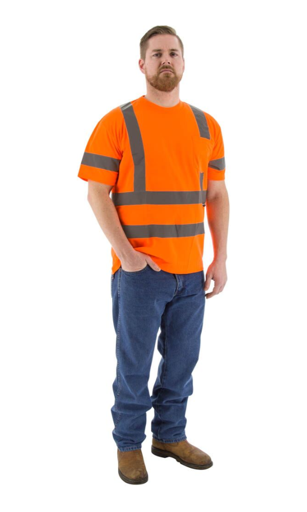 Majestic 75-5306 Hi-Vis Orange Short Sleeve Shirt ANSI 3, R