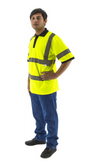 Majestic 75-5311 Hi-Vis Yellow Short Sleeve Polo Shirt ANSI 3 R