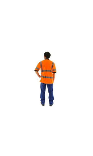 Majestic 75-5312 Hi-Vis Orange Short Sleeve Polo Shirt ANSI 3 R