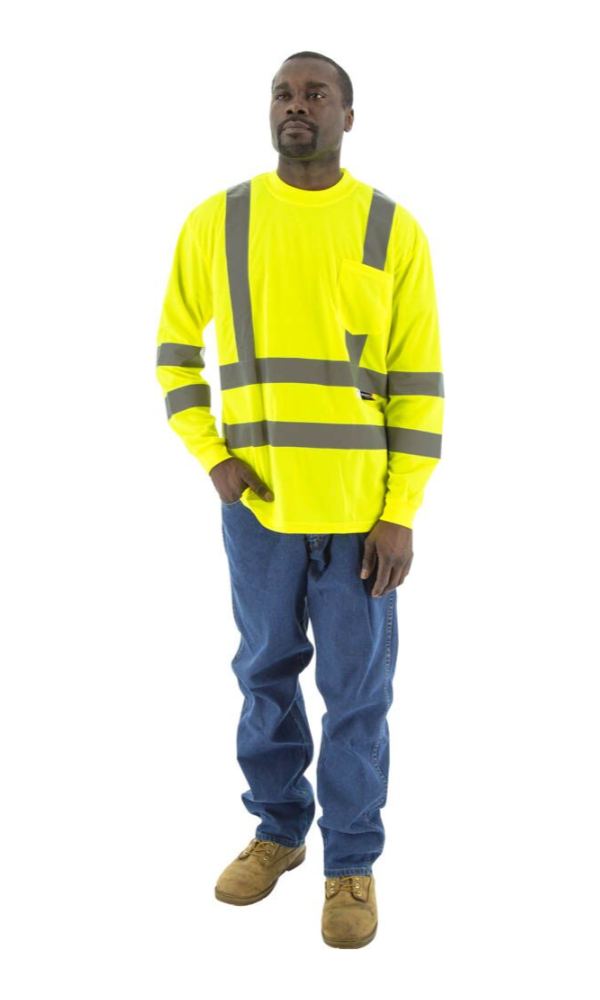 Majestic 75-5355 Hi-Vis Yellow Long Sleeve ANSI 3 R
