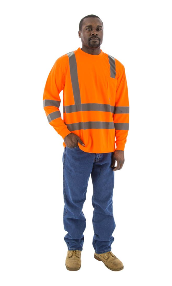 Majestic 75-5356 Hi-Vis Orange Long Sleeve ANSI 3 R