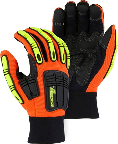 Majestic Gloves 21242 Knucklehead X10 Impact Oil/Gas Work Gloves (Dozen)