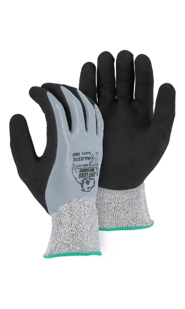 Majestic Gloves 35-6375 Cut-Less Watchdog KorPlex Cut Level ANSI A2 EN 3 Gloves (Dozen)