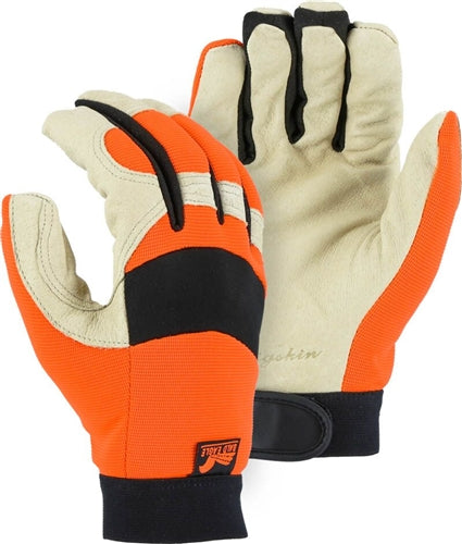 Majestic Gloves 2152THV Thinsulate Lined Hi-Vis Pigskin Premium Grade Bald Eagle (Dozen)