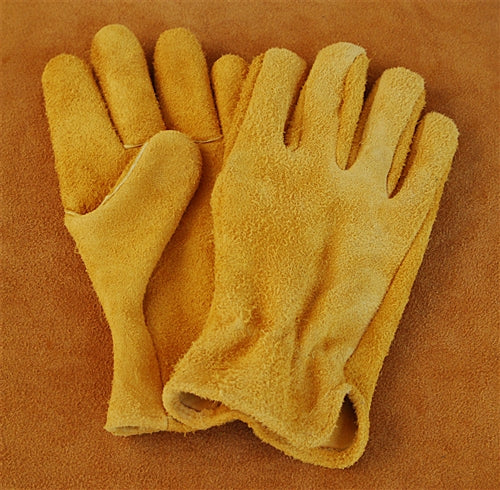 Geier Gloves 441 Reverse Leather Elkskin Work Gloves (Made in USA)
