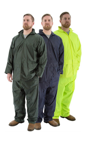 Majestic 71-2000 2-Piece Hooded Green Rain Suit