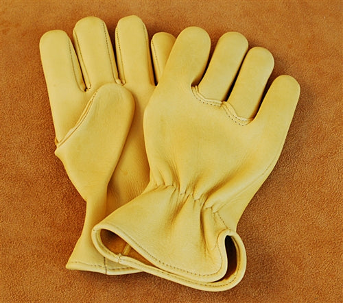 Geier Gloves 411 Elkskin Medium Weight Driving Gloves (Made in USA)