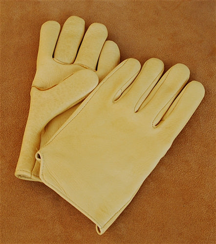 Geier Gloves 440 LDF Nordic Fleece Lined Elkskin Driving Gloves (Made in USA)