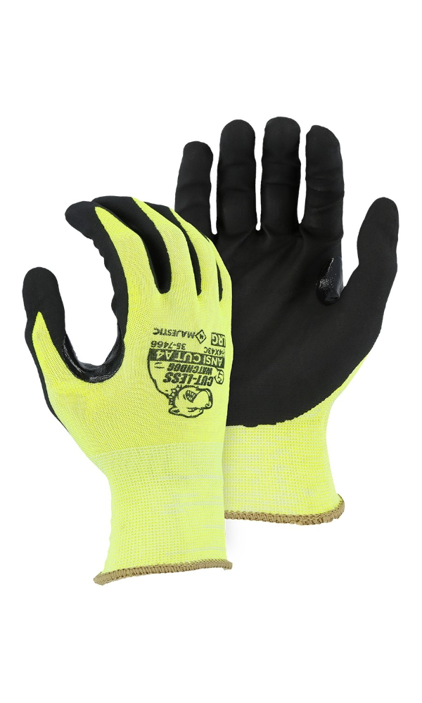 Majestic Glove 35-7466 Cut-Less Watchdog Nitrile Palm Glove