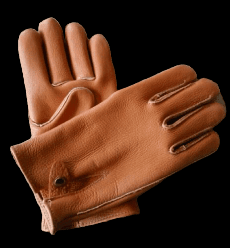 Geier Gloves 748 Genuine American Bison Leather Heavyweight Work Gloves (Made in USA)