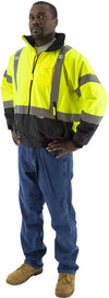 Majestic 75-1311 Hi-Vis Waterproof Bomber Jacket with Removable Fleece Liner ANSI 3