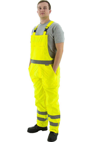 Majestic 75-2353 Hi-Vis Yellow Waterproof Bib Overall ANSI E