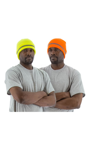 Majestic 75-8202 Hi-Vis Orange Beanie with Reflective Striping (10 count)