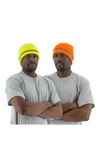 Majestic 75-8201 Hi-Vis Yellow Beanie with Reflective Striping (10 count)