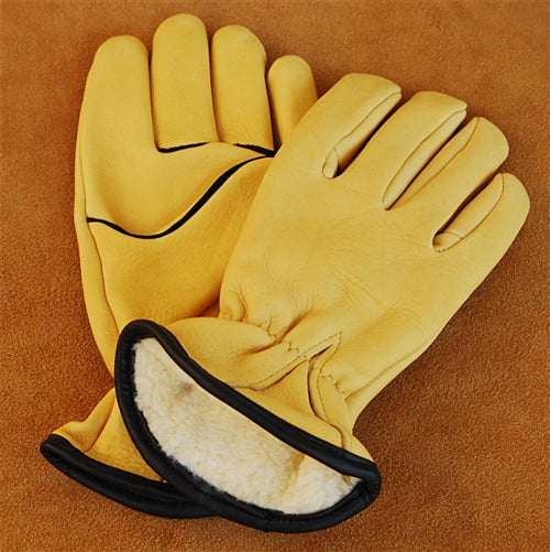 Geier Gloves 244ES LDP Pile Lined Deerskin Driving Gloves (Made in USA)