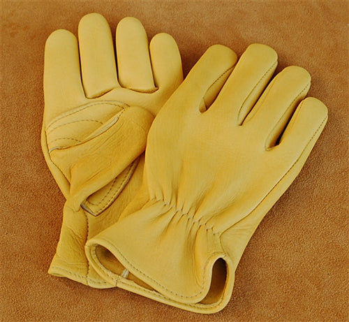 Geier Gloves 430ES Elkskin  Driver, Reinforced Palm Patch (Made in USA)