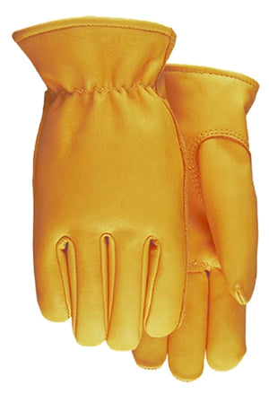 Midwest Glove 688 Saddletan Cowhide Leather Driving Gloves (Made in USA) (6 Pair)