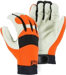 Majestic Gloves 2152 Pigskin Hi-Vis Gloves A Grade Bald Eagle (Dozen)