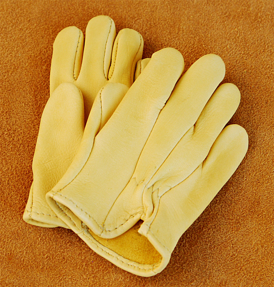 Geier Gloves 501ES [small sizes] Children's Deerskin Leather Driving Gloves (Made In USA)