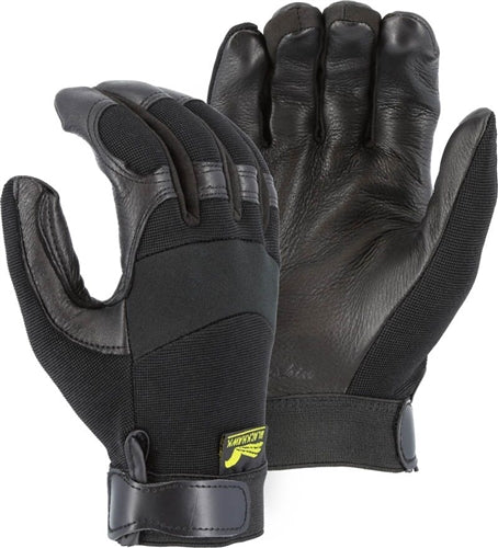 Majestic Gloves 2151 Black Deerskin Black Hawk Gloves (Dozen)