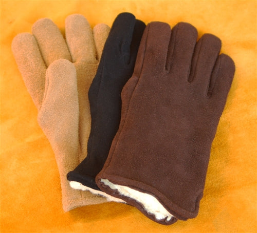 Geier Gloves 530 LDP Pile Lined Split Leather Suede Deerskin Gloves (Made In USA)