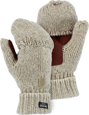 Majestic Gloves 3422P Ragg Wool Gloves Fingerless with Hood (Dozen)