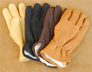 Geier Gloves 204ES LDP Pile Lined Deerskin Driving Gloves (Made in USA)