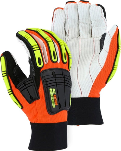 Majestic Gloves 21262 Knucklehead Driller X10 Oil/Gas Cotton Palm (Dozen)
