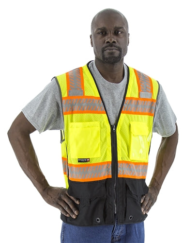 Majestic 75-3239 Safety Vest Hi-Vis Mesh