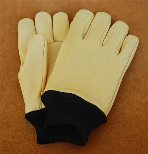 Geier Gloves 420 LDN Lined Elkskin Medium Weight Nylon Cuff Gloves (Made in USA)