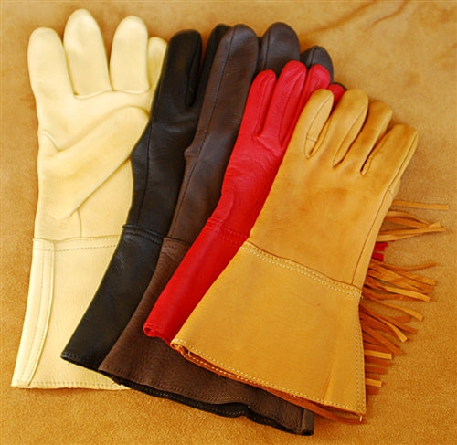 Geier Gloves 28 Deerskin Gauntlet Gloves (Made In USA)