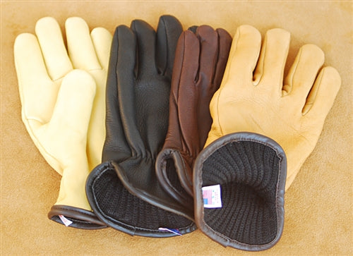 Geier Gloves 204ES LDW Merino Wool Lined Deerskin Driving Gloves (Made in USA)