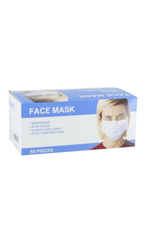 Majestic ELM100 Disposable 3-Ply Ear Loop Face Mask (Case)