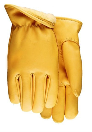 Midwest Glove 688PL Saddletan Cowhide Lined Gloves (Made in USA)