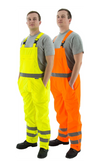 Majestic 75-2354 Hi-Vis Orange Waterproof Bib Overall ANSI E
