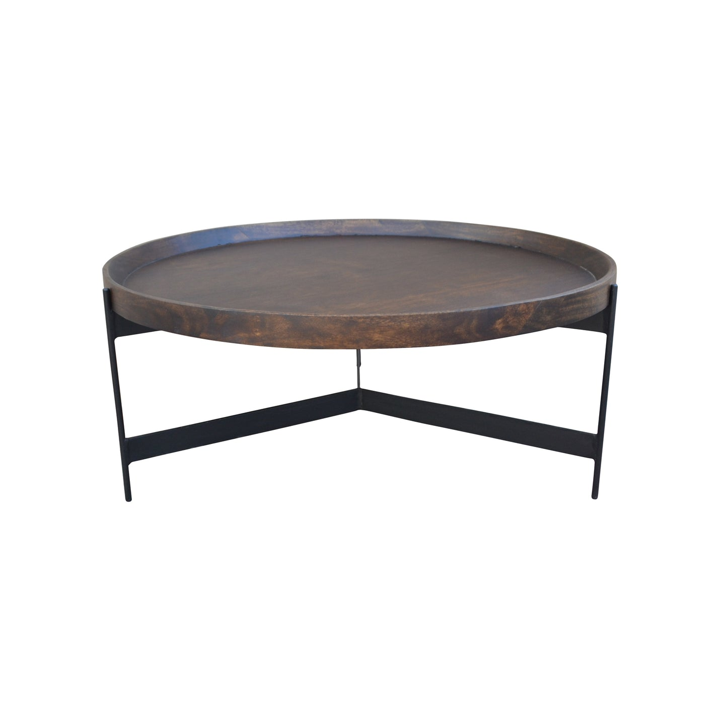 ROUND TRAY TOP COFFEE TABLE