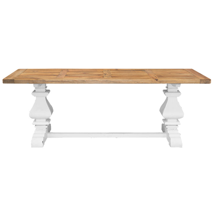 BALUSTRADE DINING TABLE-WHITE