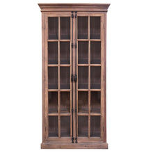 Load image into Gallery viewer, BARRET DOUBLE CASEMENT CABINET IN NATURAL OR BLACK