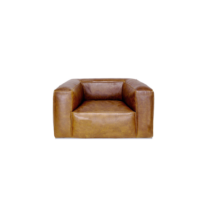 COOPER LEATHER CHAIR in BROWN