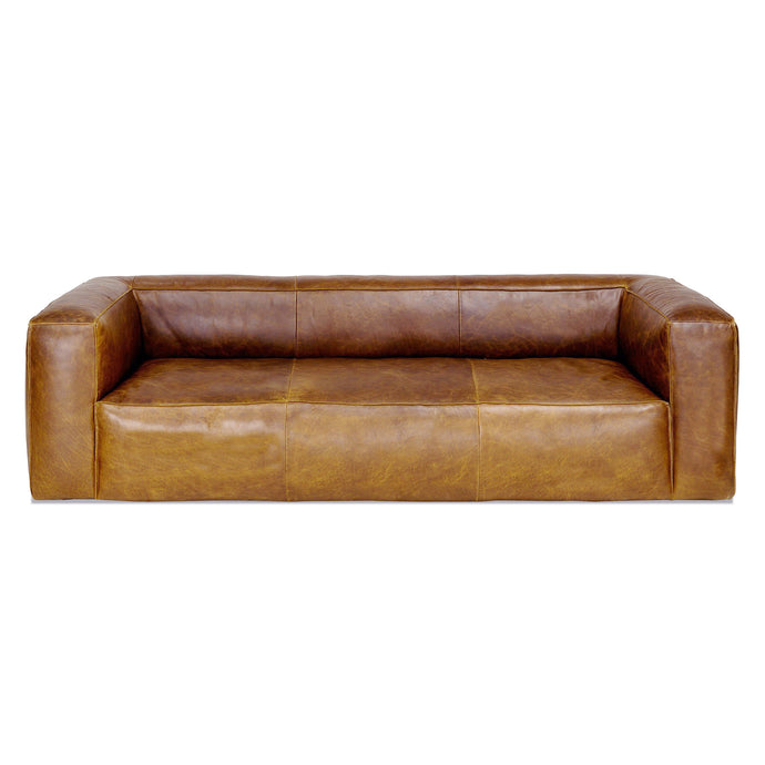 COOPER LEATHER SOFA in BROWN