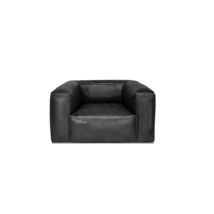 COOPER LEATHER CHAIR in BLACK