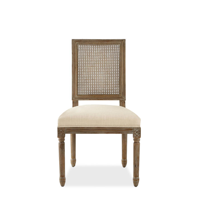FRENCH SQUARE CANE SIDE CHAIR