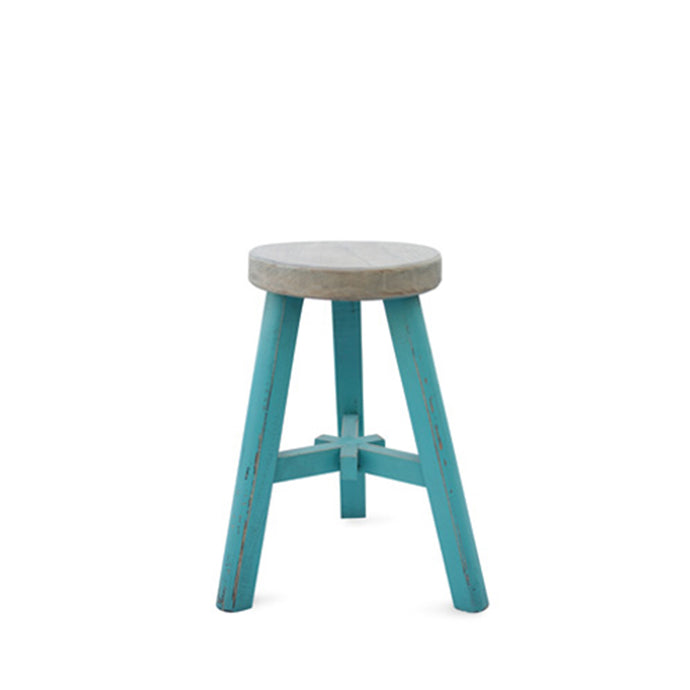 FARMHOUSE STOOL - TURQUOISE
