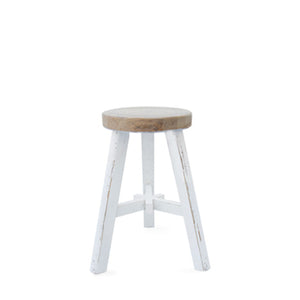 FARMHOUSE STOOL - WHITE