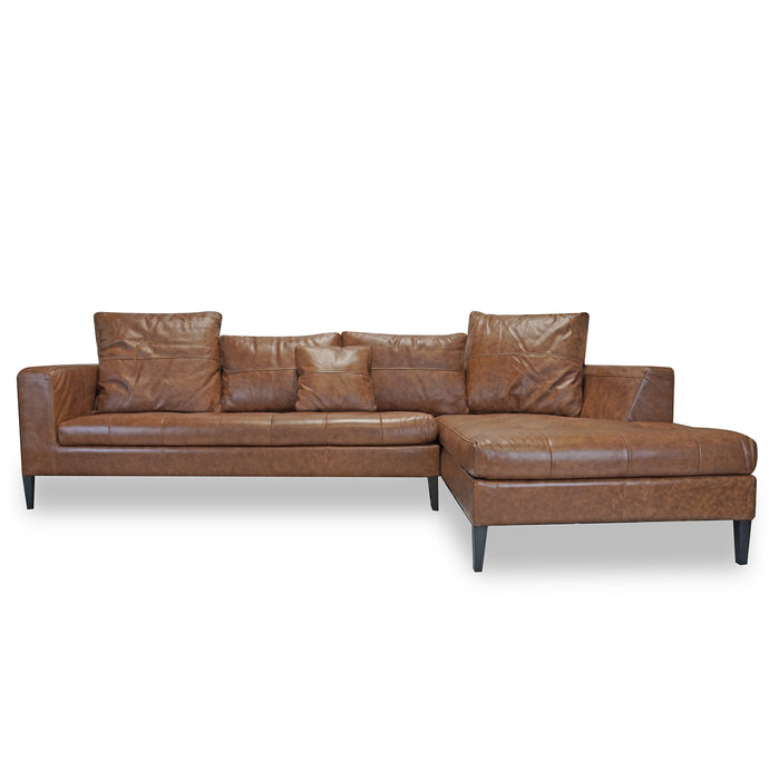 HILTON LEATHER SECTIONAL