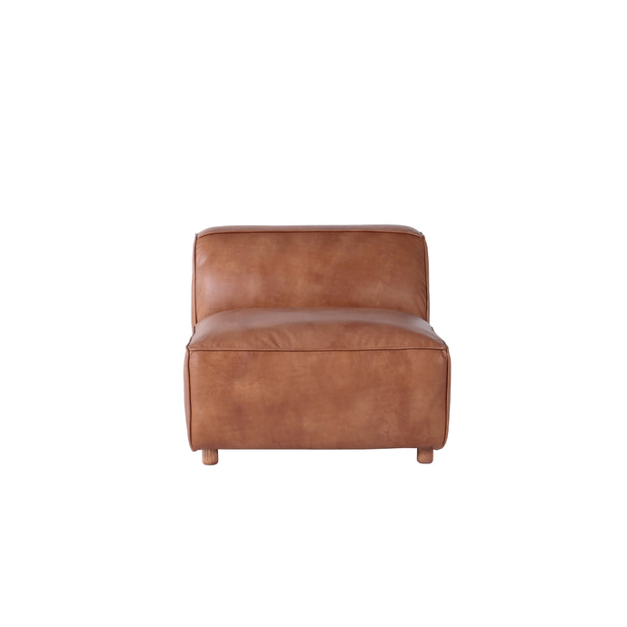 MONTANA  LEATHER SECTIONAL - ARMLESS PIECE